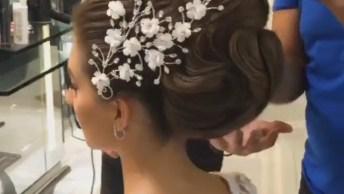 Noiva Tendo Um Dia De Princesa, Ela Ficou Muito Linda, Confira!