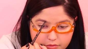 Óculos Para Fazer Maquiagem, Perfeito Para Quem Não Enxerga De Perto!
