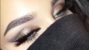 Olhos Perfeitos Para Maquiagem De Festa, Combina Com Qualquer Cor De Batom!