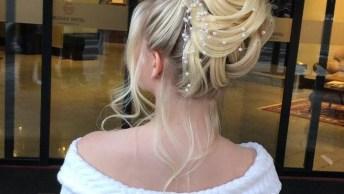 Penteado Com Coque Alto Super Trabalhado Para Noivas, Veja Que Lindo!