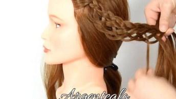 Penteado Com Trança Estilo Medieval, Um Penteado De Uma Verdadeira Princesa!