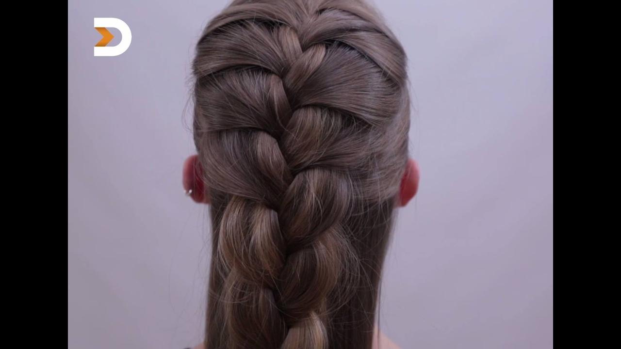 Penteado com trança para cabelos longos