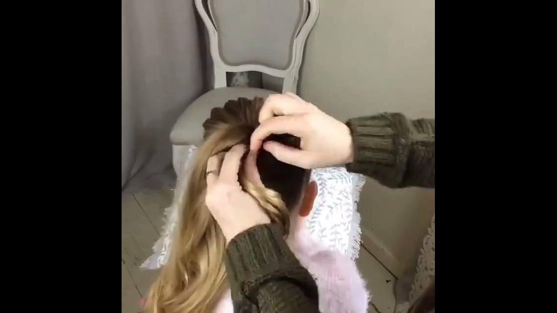 Penteado com trança para garotinhas, olha só que legal este cabelo!!!