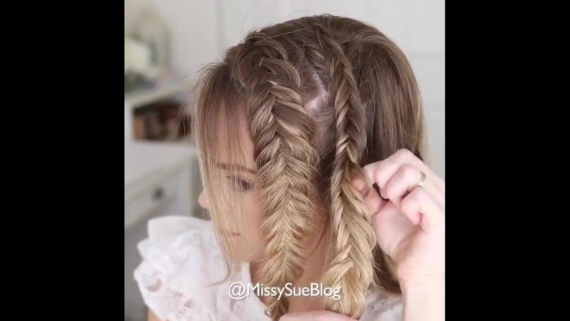 Penteado com tranças nas laterais