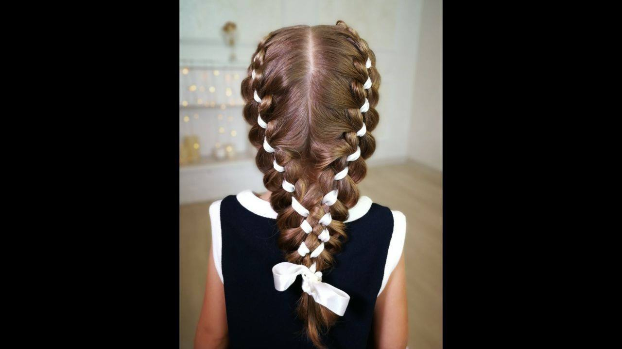 Penteado com tranças nas laterais para criança