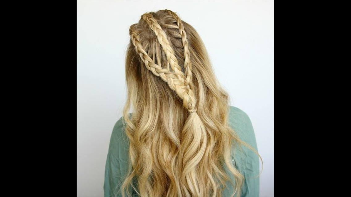 Penteado com trancinhas para cabelos longos para você fazer em casa