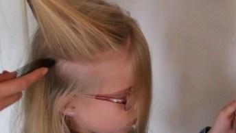 Penteado Com Trancinhas Todo Tralhado Para Meninas, Veja Que Lindinho!