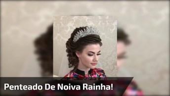 Penteado De Noiva Mais Bonito Da Internet, Ela Ficou Igual A Uma Rainha!
