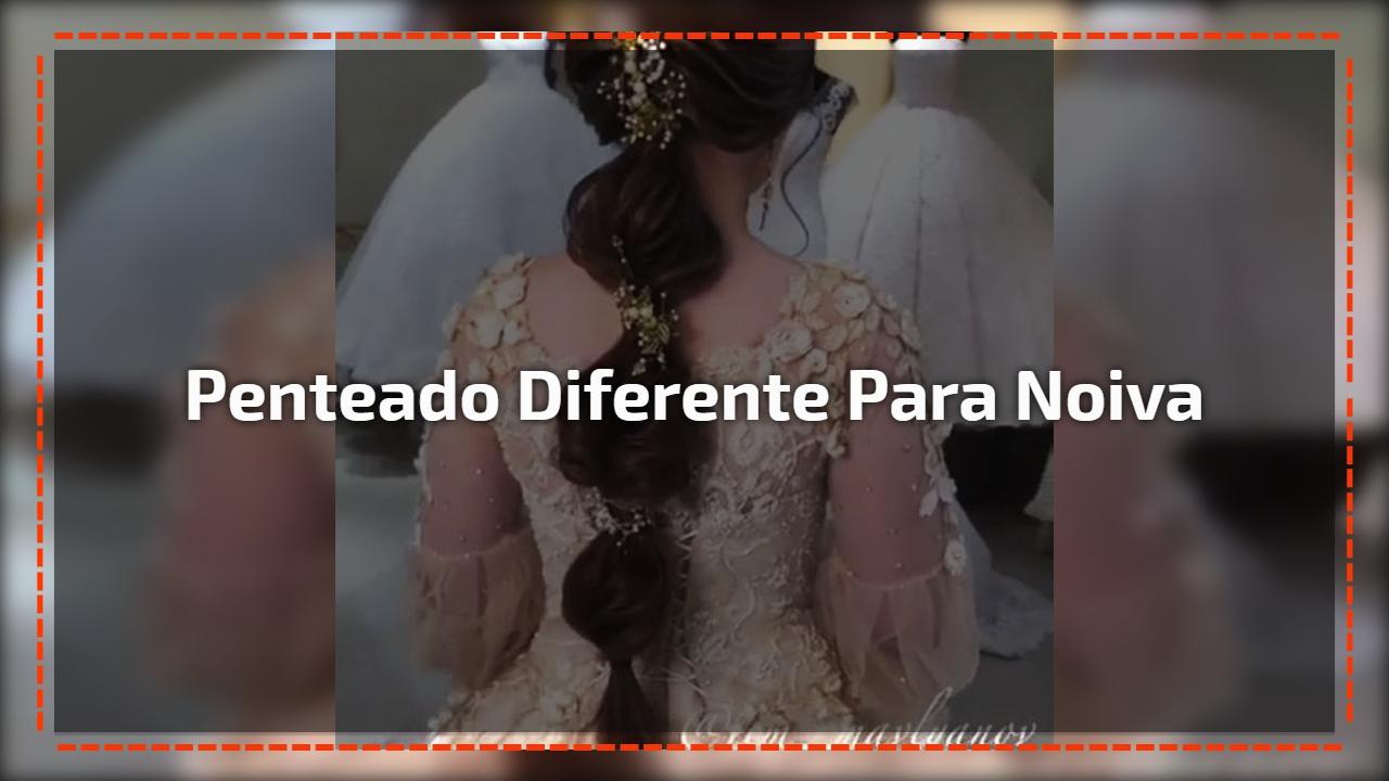 Penteado diferente para noiva
