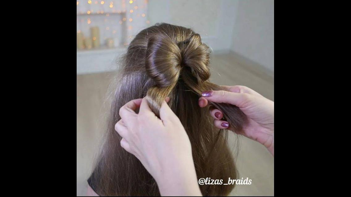 Penteado em forma de laço, uma linda opção para você arrasar!