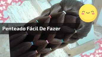 Penteado Fácil De Fazer E Que Fica Super Sofisticado, Confira!