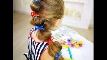 Penteado Fácil Para Meninas, Com Certeza As Mamães Vão Se Encantar!
