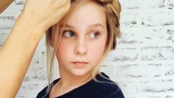 Penteado Infantil Com Cores E Trança, Veja Como Ficou Lindo!