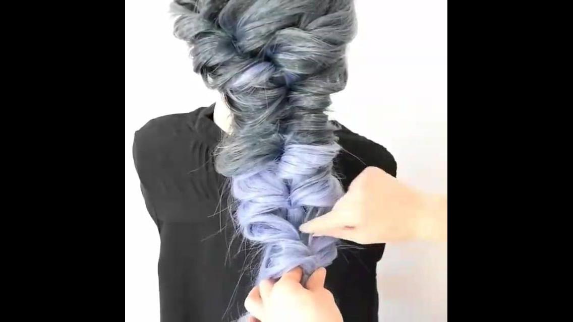 Penteado maravilhoso com trança