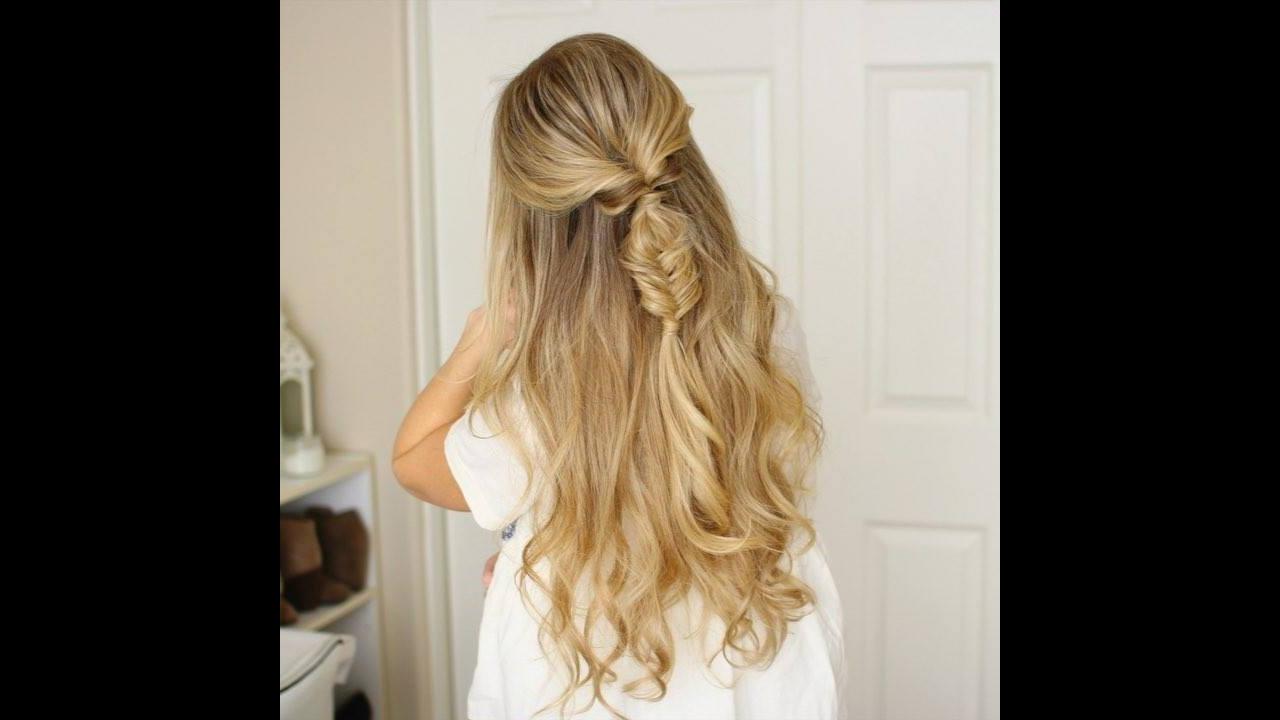 Penteado meio preso para cabelos longos