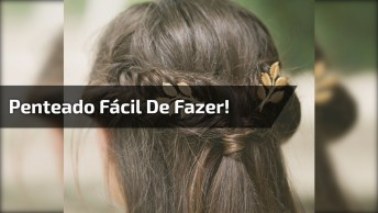 Penteado Meio Preso Para Meninas, Veja Como É Fácil De Fazer!