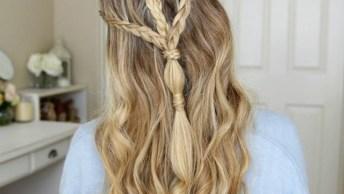 Penteado Para Cabelo Longos Para Fazer Em Casa, Veja Que Lindo!