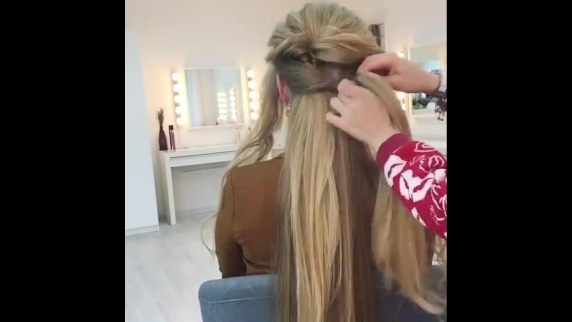 Penteado para cabelos longos