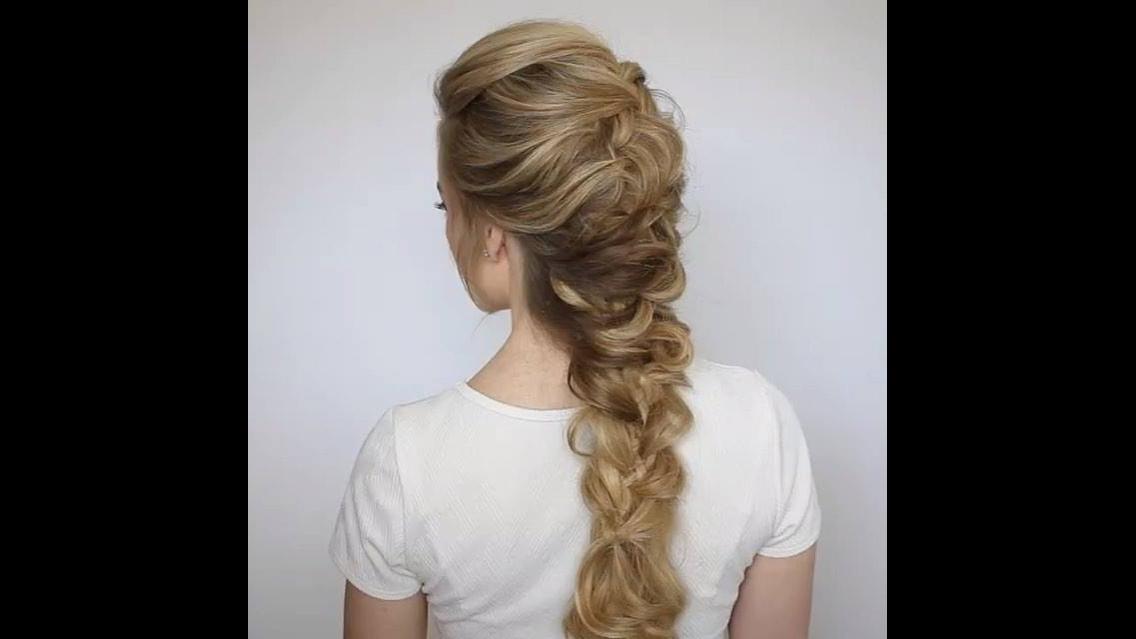 Penteado para cabelos longos para você mesma fazer