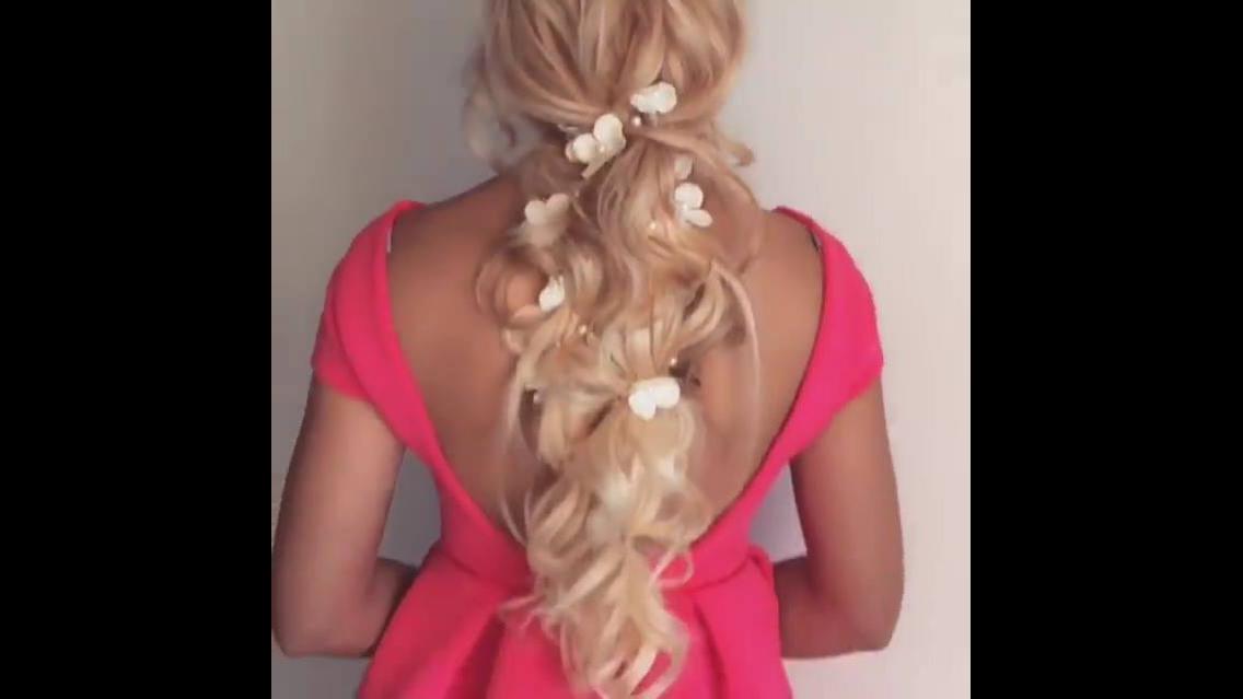Penteado para casamento com colocação de aplique