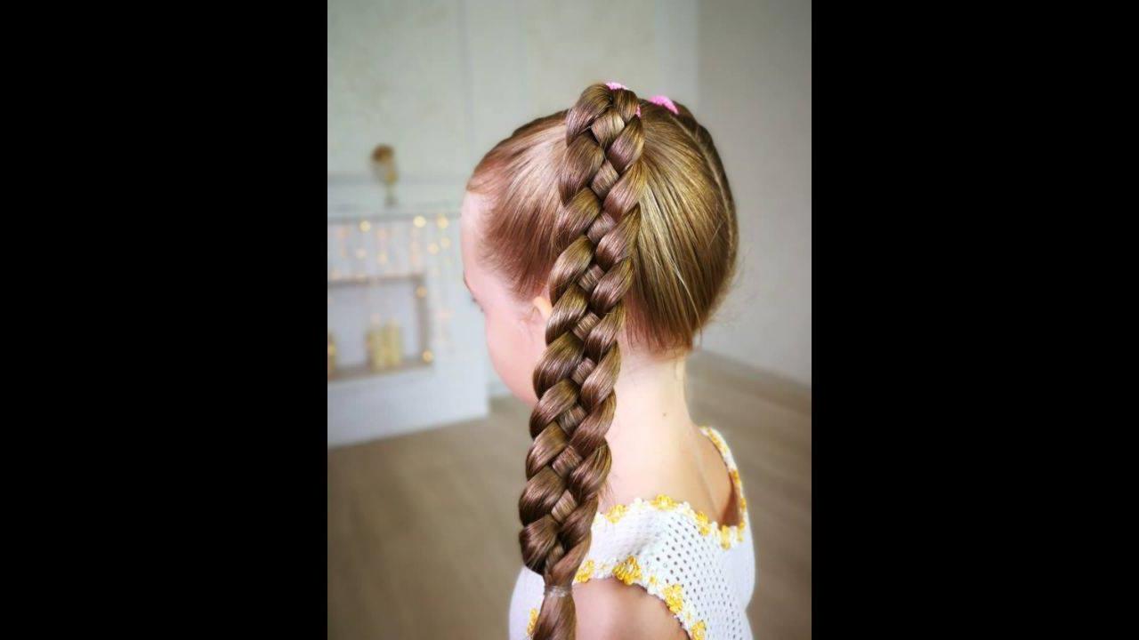Penteado para garotinhas, veja que lindo estilo de trança