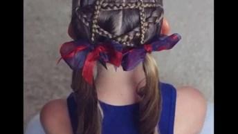 Penteado Para Meninas Com Formato De Estrelas, Veja Que Lindinho!