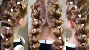 Penteado Para Meninas Lindo Para Mamãe Fazer, Vale A Pena Compartilhar!