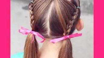 Penteado Para Meninas, Olha Só Que Lindinho E Super Delicado!