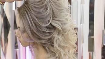 Penteado Para Noiva Com Cabelo Semi Preso, Veja Que Trabalho Perfeito!
