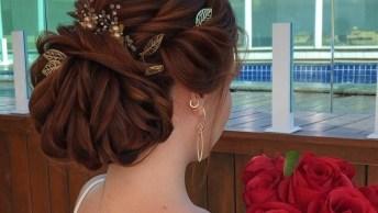 Penteado Para Noiva, Com Direito A Acessório E Muito Luxo, Confira!