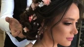 Penteado Para Noiva Que Se Casará No Campo, Confira Que Maravilha!