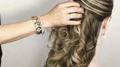 Penteado Para Noiva Semi Preso, Veja Como Fica Lindo Esta Inspiração!
