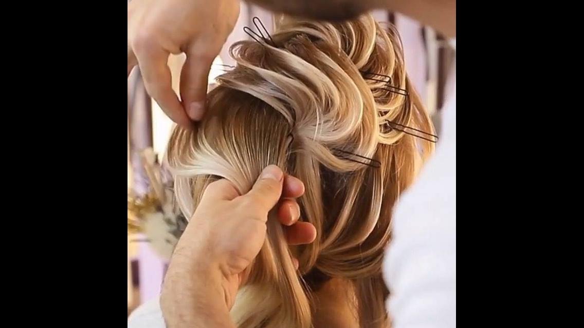 Penteado para noivas, veja que trabalho maravilhoso simplesmente perfeito!!