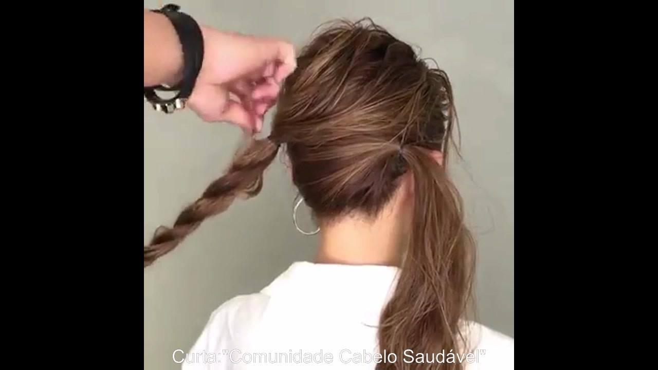 Penteado preso lindo, fácil e prático
