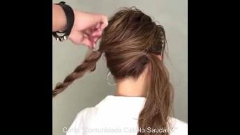 Penteado Preso Lindo, Fácil E Prático, Impossível Não Gostar!