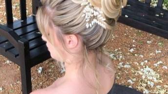 Penteado Preso Para Noiva Loira, Veja Que Linda Opção É Essa!