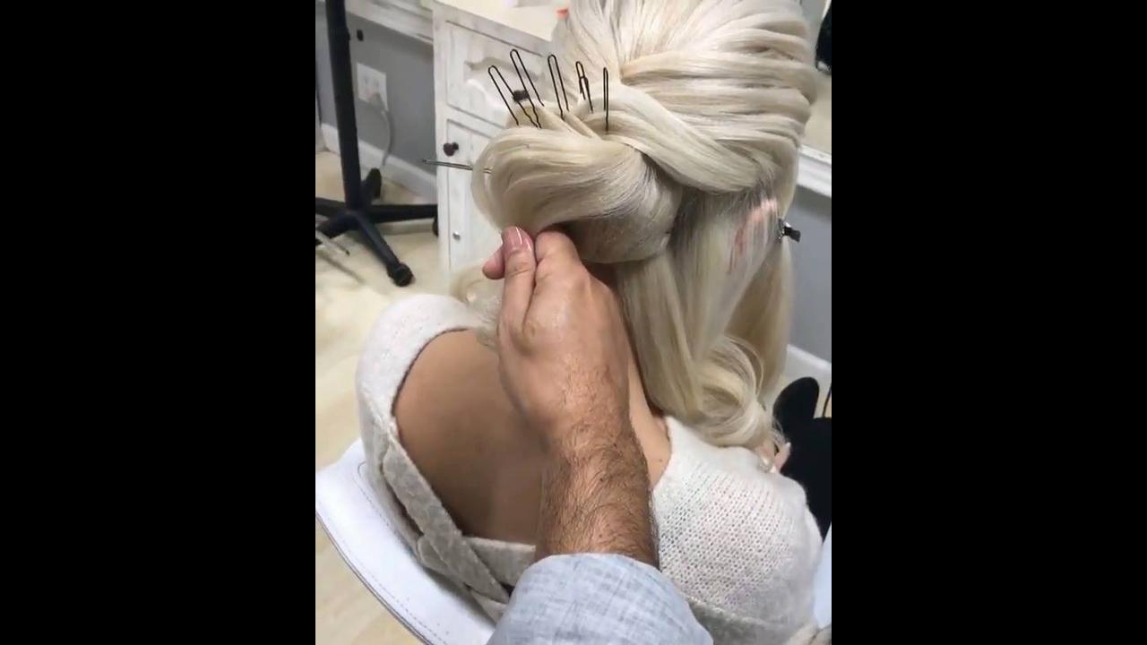 Penteado preso para noiva