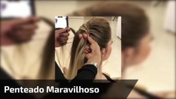 Penteado Sendo Feito, Para Mulheres Que Adoram Ver Novos Penteados!