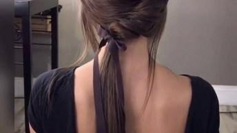 Penteado Simples E Delicado - Para Mulheres Que Amam Inovar!
