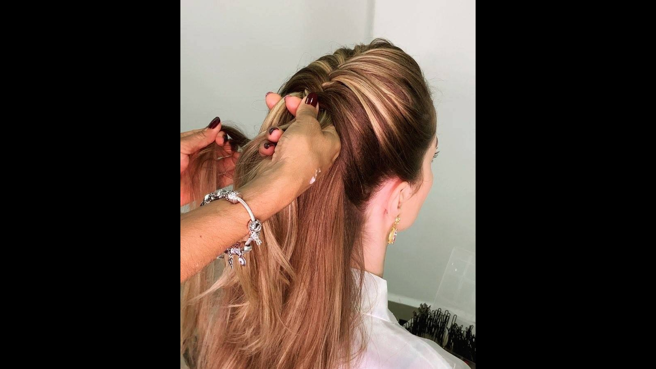 Penteado super bonito, você vai amar o resultado final, confira!