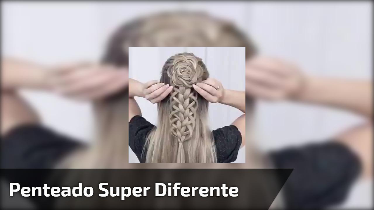 Penteado super diferente para você mesmo fazer com trança!!!