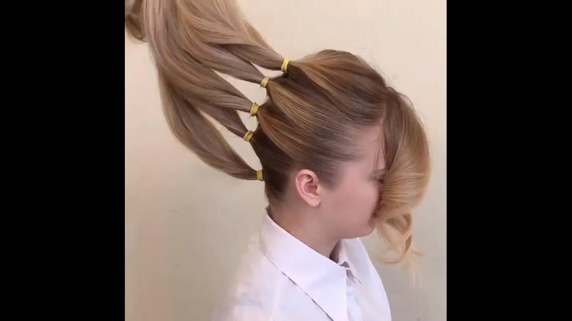 Penteados com flores do próprio cabelo