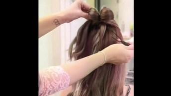 Penteados Feitos Com O Próprio Cabelo, O Primeiro Fica Lindo!