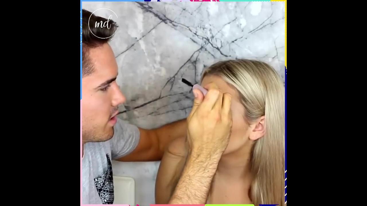 Quando o namorado sabe fazer a maquiagem, o sonho de toda mulher!