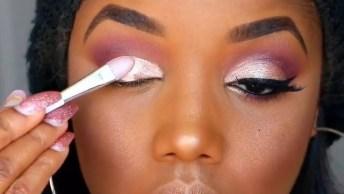 Que Lindo Esse Tutorial De Maquiagem! Veja Só Estas Cores Nos Olhos, E O Batom!