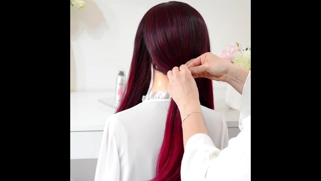 Rabo de cavalo baixo, olha só que lindo este penteado, vale a pena conferir!!!
