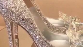 Sapato Cinderela Para Adultas, Em Luxuosos Cristais Swarovski!