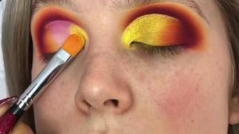 Sombra Amarela Com Detalhes De Outras Cores, Confira E Compartilhe!
