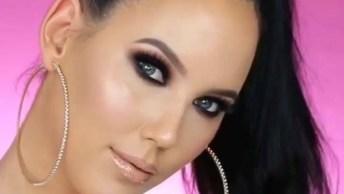 Sombra Com Esfumado Marrom, Sombra Preta Com Pigmento Roxo, Olha Só Que Linda!