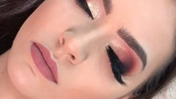 Sombra Com Esfumado Vermelho, Olha Só Que Lindo Estes Olhos!